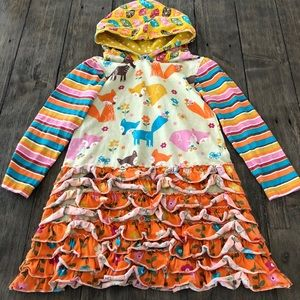 Jelly The Pug Fox Trisha Hooded Ruffle Dress 6X
